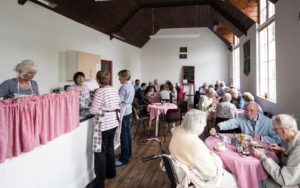 Soup kitchen at Bwyd Brynach, Nevern Church, Neven, Pembrokeshire